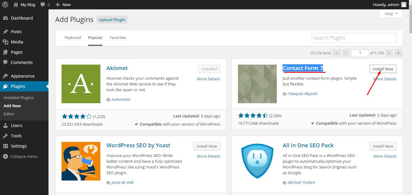 "Servikus Tutorials "" How to install new WordPress plugins"